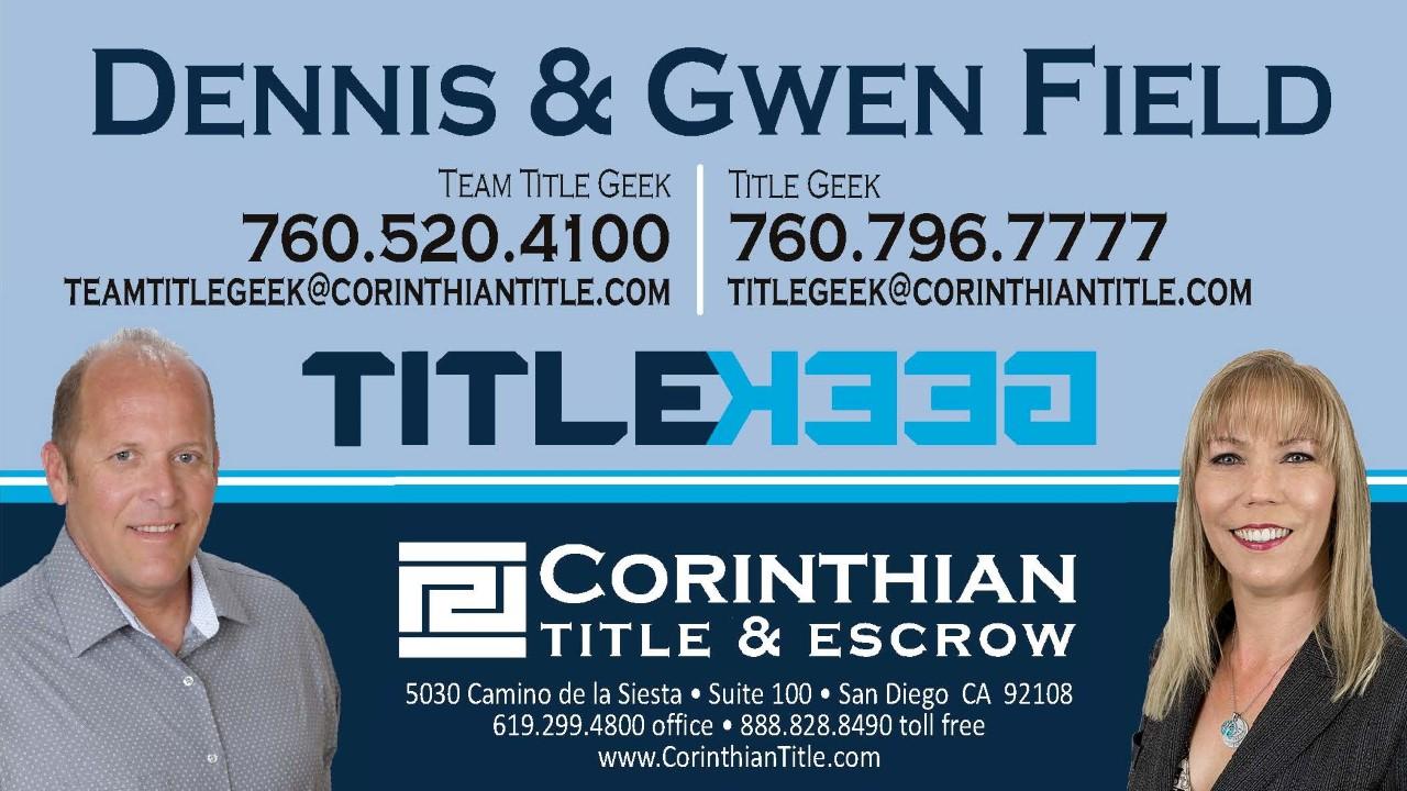 Team Title Geek: Gwen and Dennis Field